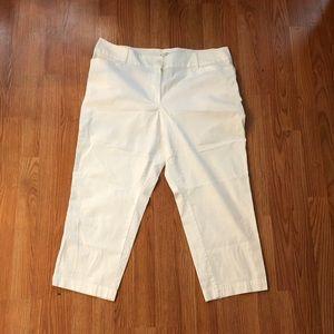 Ann Taylor Loft Curvy Fit Crop Pants